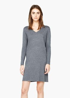 Shift cotton dress - Dresses for Women   MANGO