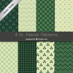 Colección de patrones de San Patricio Vector Gratis