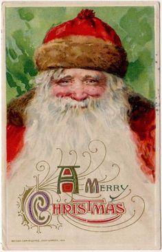 Christmas Postcard of A Gorgeous Large Santa Claus Face Winsch Artwork   eBay
