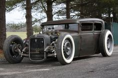 Afternoon Drive: Hot Rods & Rat Rods Photos) A hot rod is a specific type of automobile that has been modified to produce more power for racing straight ahead. The hot rod originated in the early. Classic Hot Rod, Classic Cars, Rat Rod Cars, Rat Rods, Vintage Cars, Antique Cars, Vintage Iron, Carros Audi, Traditional Hot Rod