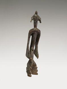 Virginia Museum  Fine artsStanding Figure 19th - 20th century Mumuye culture Nigeria wood 30 x 6 x 7 in 76.20 x 15.24 x 17.78 cm Adolph D. and Wilkins C. Williams Fund 80.183 VMFA Mumuye culture Standing Figure