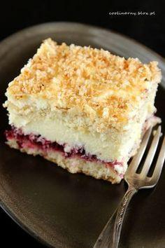 Biszkopt z masą kokosową Baking Recipes, Cake Recipes, Dessert Recipes, Delicious Deserts, Yummy Food, Chocolate, Cupcake Cakes, Cupcakes, Sweet Pastries
