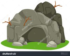 Illustration Of Isolated Cartoon Cave On White Background - 59451499 : Shutterstock