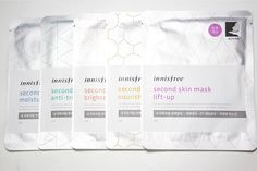 Mask: #1 이니스프리 세컨드 스킨 마스크 (Innisfree Second Skin Mask)