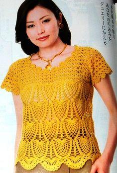 Crochet pineapple shirt