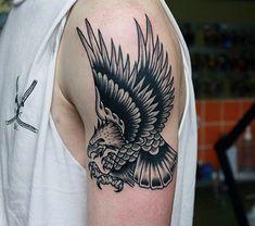 75 Eagle Tattoos For Men A Soaring Flight Of Designs regarding Top tattoo style . - 75 Eagle Tattoos For Men A Soaring Flight Of Designs regarding Top tattoo style ideas eagle Tattoo - Tattoos 3d, Eagle Tattoos, Black Tattoos, Tattoos For Guys, Tattoo Drawings, Full Sleeve Tattoo Design, Full Sleeve Tattoos, Original Tattoos, Traditional Eagle Tattoo