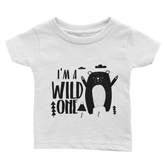 Wild One 1st Birthday Shirt Boy First Outfit Year Old Gift Trendy Party