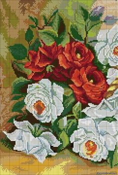 This Pin was discovered by Sib Cross Stitch Boards, Cute Cross Stitch, Cross Stitch Rose, Cross Stitch Flowers, Cross Stitching, Cross Stitch Embroidery, Hand Embroidery, Cross Stitch Patterns, Crochet Cross
