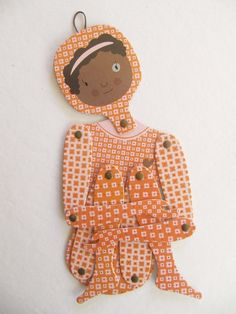 Image of Tita, articulated cardboard doll