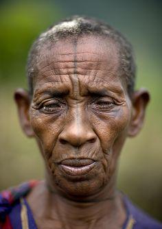 Maale tribe tattooed woman Ethiopia