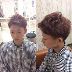 カットカラーのお客様 カラーは暖色系のレッドで染めさせていただきました() 透明感もあるカラーなので柔らかい仕上がりになります米澤 #creer_for_hair #throw #メンズカット#イケメン#鹿児島美容室