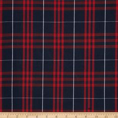 This lightweight woven fabric is yarn dyed with a full-bodied drape. It is perfect to use for skirts, jumpers, school uniforms, kilts, and blazers. Remember to allow extra yardage for pattern matching.