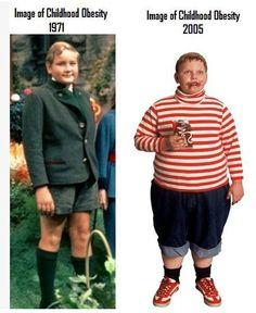 Childhood obesity -- 1971 vs 2005