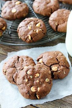 Chocolate Peanut Butter Oatmeal Cookies #chocolate #peanutbuter #oatmeal #cookies