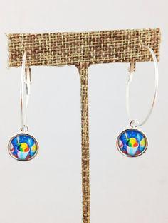 Fleurty Girl - NOLA Colors Hoop Earrings, Snoball, $16