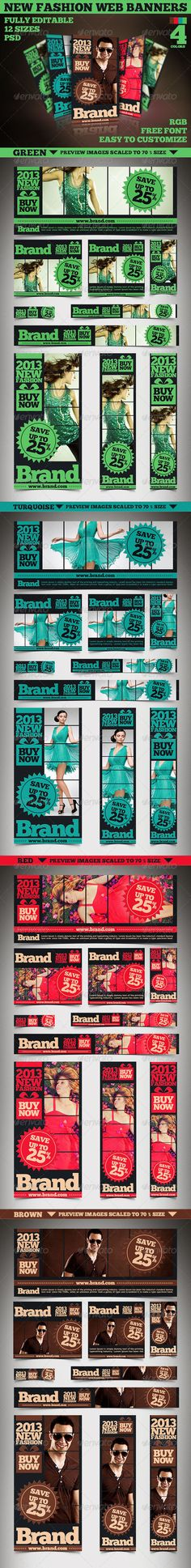 New Fashion Web Banners & Advertise Features RGB Easy to customize .psd http://startupstacks.com/web-elements/new-fashion-web-banners-advertise.html - free download