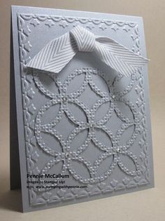 Lattice Bigz + 2 Embossing Folders - Keeping it Simple! from my blog  www.stampingwithpennie.com