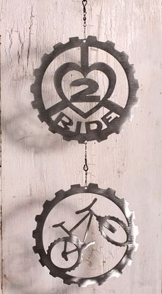 Mountain Bike Art Double wind chain by ShineOnSportyGirl on Etsy, $35.00