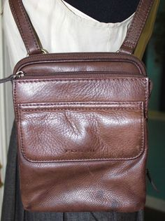 Fossil Brown Leather Cross Body Shoulder Handbag Women Purse #Fossil #CrossBodyShoulderHandbag