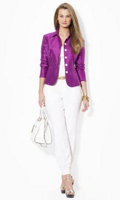 Silk Jacket - Lauren Jackets - RalphLauren.com