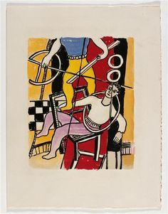 ''Das Album Circus (17)', 1950 von Fernand Leger (1881-1955, France)