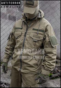 Куртка тактическая (ANTITERROR) Сoyote купить в Николаеве. Заказать Куртка тактическая (ANTITERROR) Сoyote за 1250 грн. Описания, фото, характеристики, доставка - АРМОЛАЙН - военная форма и снаряжение Tactical Wear, Tactical Jacket, Tactical Clothing, Tactical Survival, Airsoft, Battle Dress, Military Dresses, Retro Fashion, Mens Fashion