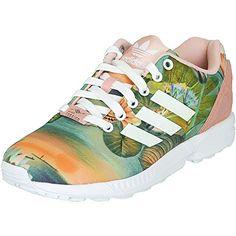 on sale 2c89b 1e4cc Adidas ZX Flux Flower Damen Sneaker Schuhe , Größe 42 Farbe pink multi   Amazon.de  Schuhe   Handtaschen