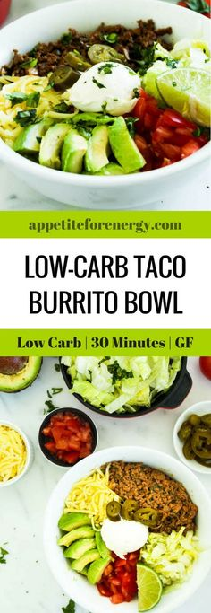 Burritos or tacos are an excellent choice if the rest of your family eat carbs.They are ready in 30 minutes with only 10g net carbs per serve. Ketogenic taco recipe | Keto diet recipes | 30 Minute low-carb recipe |Taco Tuesday | Atkins Diet| Banting | Beef Tacos | Gluten-Free Tacos | Low-carb burrito bowl #ketogenicrecipes #lowcarbdietrecipes #ketodiet #tacobowl