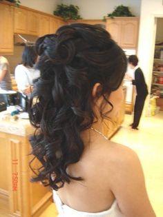 Bride hair look