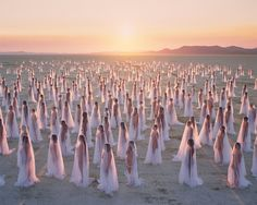 """""""Desert Spirits"""" (2013) by spencer tunick"""