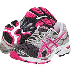 Asics are the best workout shoes ever. The Gel insert is fabulous. I've had mine for over 2 years and they're still very supportive. But I've been really craving some pink ones.
