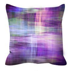 BLURRY VISION 3 Purple Lavender Yellow Blue Tartan Plaid Art Suede Decorative Throw Pillow Cushion Cover by EbiEmporium, #plaid #tartan #stripes #lavender #purple #homedecor #countrychic #throwpillow #pillowcover