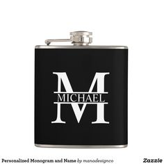 Personalized Monogram and Name Flask Fathers Day Gifts, Gifts For Dad, Monogram Shop, Wedding Name, Name Gifts, Bar Accessories, Keep It Cleaner, Barware, Names
