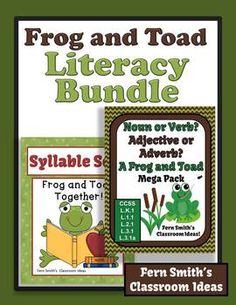 Frog and Toad Discounted Literacy Center Bundle of Resource of Task Cards, Center Games, Printables and Interactive Notebook Activities for Common Core! #TPT $Paid