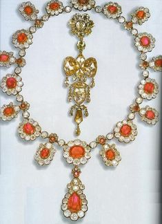 French Crown Jewels - Necklace (Mid-19th century. France. Gold, diamonds and rubies. Belonged to the Empress Eugenie,and was part of a huge parure. by jaclyn