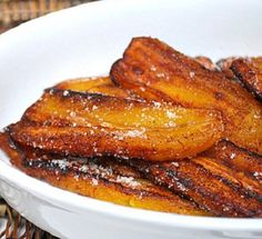 Fried Plantains with a little rock salt... my fav