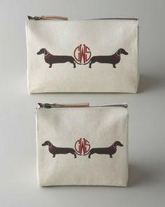 "iomoi Small ""Daschund"" Cosmetic Bag on shopstyle.com"