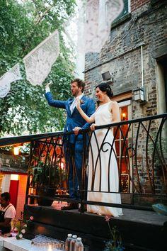 A Casual, Modern City Hall Wedding and Restaurant Reception at Gran Electra in Brooklyn, New York Wedding Story, Wedding Ideas, Brick Siding, City Hall Wedding, Brooklyn New York, Modern City, Low Key, View Photos, Getting Married