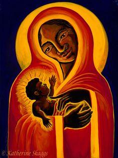 Black Madonna and Child Art and Prints - Katherine Skaggs