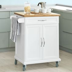 So Kitchen Cabinet Storage Trolley Cart With Bamboo Top Fkw13 Wn Uk