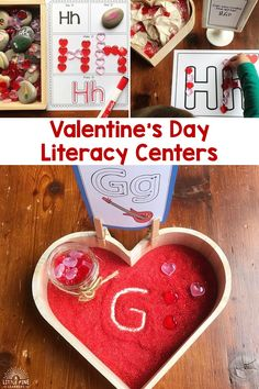 February is right around the corner, so I thought I'd share how we transform the Alphabet and Beginning Sound Literacy Bundle into the perfect centers for Valentine's Day! Just add a few accessories and you are all ready for the holiday of hearts and love. Motor Skills Activities, Alphabet Activities, Literacy Activities, Literacy Centers, Preschool Activities, Kindergarten Curriculum, Early Years Teaching, Morning Activities, Creative Activities For Kids