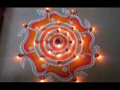 New Beautiful Rangoli Designs With Colours - For Special Occasion - Rang. Rangoli Designs Simple Diwali, Indian Rangoli Designs, Rangoli Designs Latest, Colorful Rangoli Designs, Rangoli Ideas, Diwali Rangoli, Beautiful Rangoli Designs, Mehandi Designs, Easy Rangoli