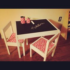 Madeline's Ikea Latt table.