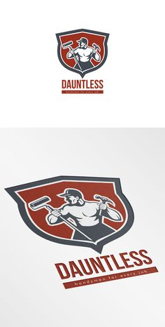 Dauntless Handyman Logo Templates Logo illustration of a carpenter holding hammer and paint roller looking to side set inside shield c by patrimonio Online Printing Companies, Printing Services, Handyman Logo, Carpet Installation, Creative Sketches, Logo Templates, Design Templates, Paint Markers, Pencil Illustration