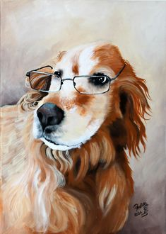 Dog portrait custom pet painting hand painted on a by PerlillaPets