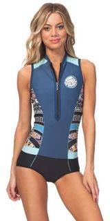 Rip Curl G-Bomb Wetsuit Women's Sleeveless Sublimated 1mm Springsuit G-Bomb  Cap Sleeve