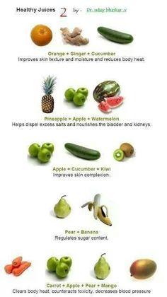 Juice combinations