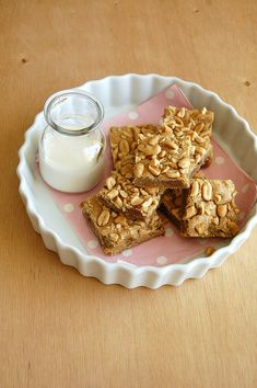 Salted peanut blondies / Blondies de amendoim salgado