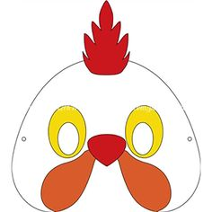 Rooster Mask Duck Diy Masque Chicken Crafts Animal Masks Silhouette