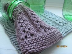 Gray Dishcloth Lace Pattern Cotton Dishcloth Bath and by AMailys
